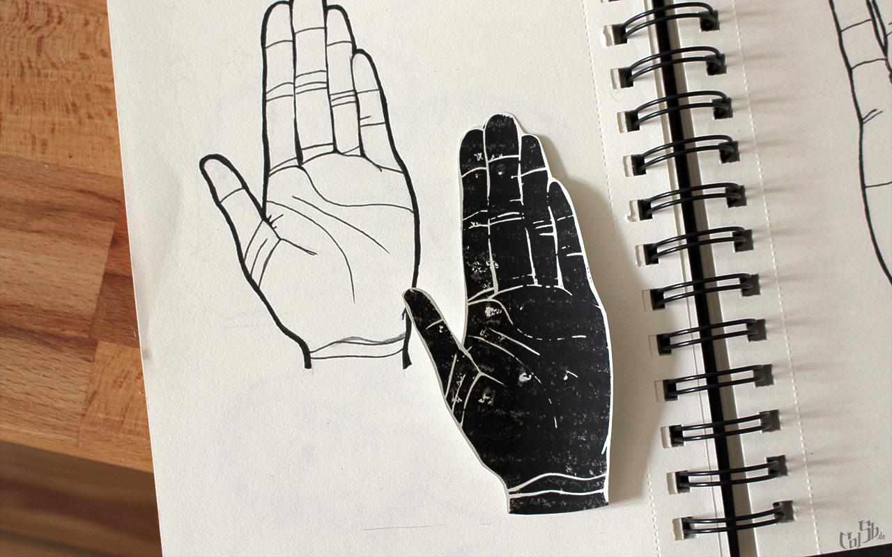Selbstbildnis meiner linken Hand